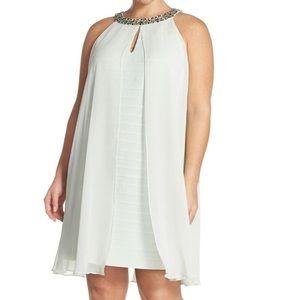 Adrianna Papell Chiffon Embellished Dress Size 12